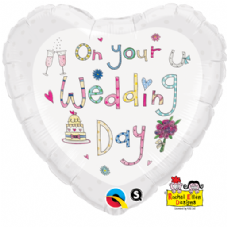 On Your Wedding Day Foil Helium Balloon By Rachel Ellen